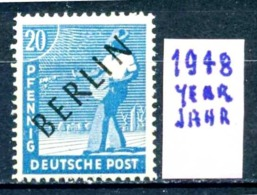 GERMANIA- BERLINO - Jahr 1948 -nuovo - New - Postfrish - MNH**- Michel 08 - Berlin (West)
