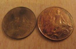 France - 2 Monnaies 5 Centimes Dupuis 1900 Et 1916 Avec étoile - TTB - Achat Immédiat - France