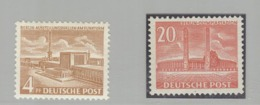 Germany 4Pf Deutschlandhalle And 20Pf Olympic Stadium MNH - Sommer 1936: Berlin