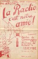"""Partition De La Marche Chantée """" La Radio C'est Notre Amie """" Avril 1940 - Libri, Riviste & Cataloghi"""