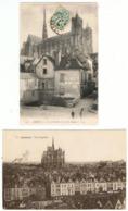 Amiens / Lot De 2 CPA / Vieil Amiens, Cathédrale & Vue Générale - Amiens