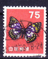 Japan - Schmetterling (Sasakia Charonda) (MiNr:654) 1956 - Gest Used Obl - 1926-89 Emperor Hirohito (Showa Era)