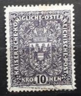 Österreich 1918, Wappenzeichnung 10 Kronen, Mi 203a, Gestempelt - 1850-1918 Empire