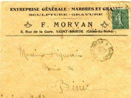 Convoyeur De Ligne De Rosporden à Carhaix- 1919 - Marcophilie (Lettres)