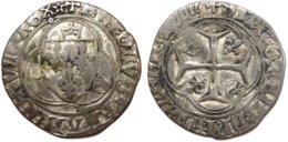 #11_FRANCE MÉDIÉVALE - Charles VII [1422-1461] - Blanc à La Couronne (4e émission) - Saint-Lô (2,75 G ; Dup. 519C) - 987-1789 Könige