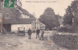 LA FERTE Sur AMANCE - Rue De Velle Avec 3 Hommes Et Chariot - A Voir 2 Scans - Francia