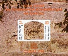 Madara Denkmal 1985 Bulgarien Block 156 B ** 2€ UNESCO Felsenrelief M/s Bloc Hoja Architectur Sheet Bf Art BULGARIA - Nuevos