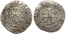 #09_FRANCE MÉDIÉVALE - Charles VII [1422-1461] - Blanc à La Couronne (4e émission) - Saint-Lô (2,94 G ; Dup. 519C) - 987-1789 Könige