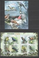 BC967 2012 MOZAMBIQUE MOCAMBIQUE FAUNA EXTINCT BIRDS PASSAROS EXTINTOS 1KB+1BL MNH - Altri