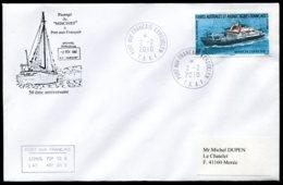 """15436 T.A.A.F N°520 ° 50é. Anniversaire Du Passage Du """"Mischief"""" à Port-aux-Français  Kerguelen  Du  2.2.2010   TB - Cartas"""