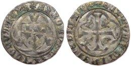 #13_FRANCE MÉDIÉVALE - Charles VII [1422-1461] - Blanc à La Couronne (4e émission) - Bourges (2,87 G ; Dup. 519C) - 987-1789 Monnaies Royales