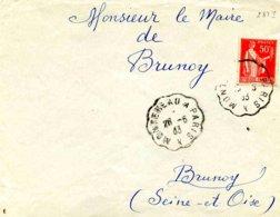 Convoyeur De Ligne De Montereau à Paris- 1933 - Marcophilie (Lettres)