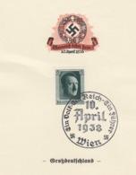 REICH 10 APRIL 1938 WIEN GROSSDEUTSCHLAND  / 2 - Briefe U. Dokumente