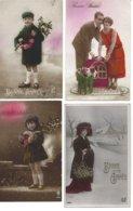 4 Cartes Bonne Année - Nouvel An