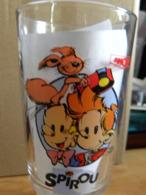 Verre à Moutarde Spirou  2 Scans - Vasos