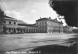 """5819""""LAGO MAGGIORE-LUINO-STAZIONE F.S.""""-CART. POST. ORIG. SPED.1956 - Luino"""