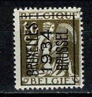 Belg. 1934 -  OBP/COB PRE 284 A** Bruxelles / 1934 / Brussel - MNH (2 Scans) - Typo Precancels 1932-36 (Ceres And Mercurius)
