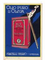 CARTOLINA POSTALE OLIO PURO D'OLIVA FRATELLI BERIO ONEGLIA - Pubblicitari