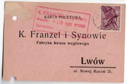 Advertisement Carbonic Acid Lwow 1931 - 1919-1939 Republic