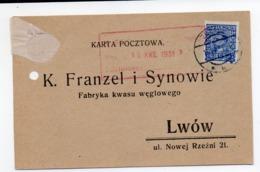 Advertisement Carbonic Acid Lwow Zborow1931 - 1919-1939 Republic