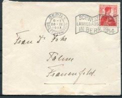 1913 Switzerland Bern Ausstellung 1914 Exposition Nationale Cover - Switzerland