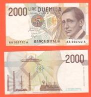 2000 Lire 1990 Gugliemo Marconi Nobel Serie AAA - [ 2] 1946-… : Républic