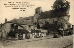 CPA ORSAY Abside De L'Église. Maison Bourgine. Resto, Patisserie (509767) - Orsay