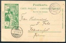 1900 Switzerland Stationery Postcard Lavey Les Bain - Frauenfeld - Stamped Stationery