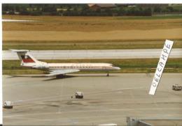 PHOTO AVION TUPOLEV 134 BALKAN LZ-TUS  1987   ZURICH  12X8CM - Aviazione