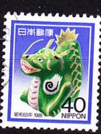 Japan - Jahr Des Drachen (MiNr: 1764) 1987 - Gest Used Obl - 1926-89 Keizer Hirohito (Showa-tijdperk)