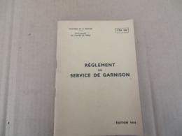Règlement Du Service De Garnison - 00/01 - Andere
