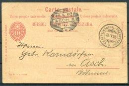 1902 Switzerland Stationery Postcard. Niederschonthal - Frenkendorf To Asch Bohemia - Stamped Stationery