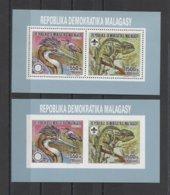 Malagasy Animals WWF Scouts Rotary Birds 2v COLL. ( A/B ) MNH - W.W.F.