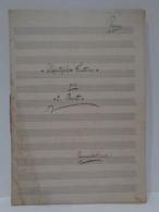 Antigua Partitura Manuscrita Para Piano. Mefistofebe (fantasia). Por E. Baito. - Partituras