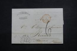 ITALIE - Lettre De Livourne Pour La France En 1858 , Cachet D'entrée En France Par Pont De Beauvoisin - L 46206 - Toskana
