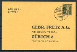 1933 Switzerland Bucher Zettel Zurich Ambulant Railway Postcard - Switzerland