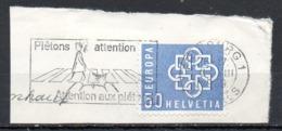 SUISSE. Flamme De 1969 Sur Fragment. Sécurité Routière. - Accidents & Road Safety