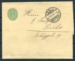 1907 Switzerland Stationery Wrapper Zurich - Stamped Stationery