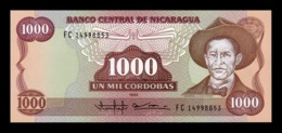 Nicaragua 1000 Córdobas Augusto Cesar Sandino 1985 (1988) Pick 156b SC UNC - Nicaragua