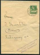 1922 Switzerland Stationery Wrapper Basel - Bern. Verein Fur Verbreitung Guter Schriften - Stamped Stationery