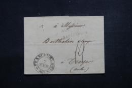 """ALLEMAGNE - Lettre De Franckfürt Pour La France En 1817, Marque D'entrée  """" Allemagne Par Sarrebruck """" - L 46208 - [1] Precursores"""