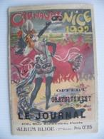 Superbe Programme Du Carnaval De Nice 1902 Chemin De Fer PLM De La Turbie +++ - Dépliants Touristiques