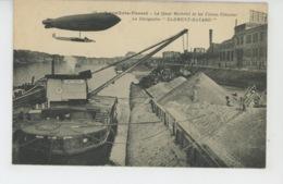 """AVIATION - DIRIGEABLES - LEVALLOIS PERRET -Le Quai Michelet Et Les USINES CLÉMENT - Le Dirigeable """"CLÉMENT BAYARD """"(grue - Airships"""