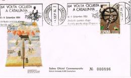34530. Carta SANT BOI De LLOBREGAT (Barcelona) 1984. Rodillo Especial 64 Volta Ciclista Catalunya. - 1931-Today: 2nd Rep - ... Juan Carlos I