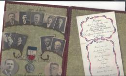 """BEZONS  """" La Cellophane  """" Banquet 10 Décembre 1942  - Grand Carton 3 Volets  + 3 Lettres ( 1915  - 1919 ) - Non Classés"""
