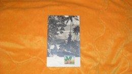 CARTE MAXIMUN DE 1958..../ ILES WALLIS FUTUNA...CACHETS VOUS ETES FORMIDABLES ILES WALLIS ET FUTUNA ..+ TIMBRE - Covers & Documents