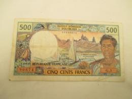 Billet De 500 Fr Polynesie  Francaise  - Papeete - - Andere