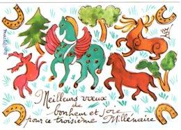 B60213 CPM Illustrateur Macti, Voeux Pour L'An 2000 - Illustrators & Photographers