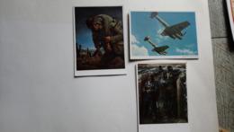 Lot 3 Cartes Munchen Haus Der Deutschen Kunst Will Tschech Schreiber Aviation - Weltkrieg 1939-45