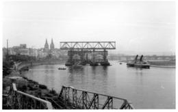 CPA PHOTO MILITARIA. KOBLENZ. PONT DE BATEAUX SUR LE RHIN. OCCUPATION FRANCAISE EN ALLEMAGNE - Koblenz